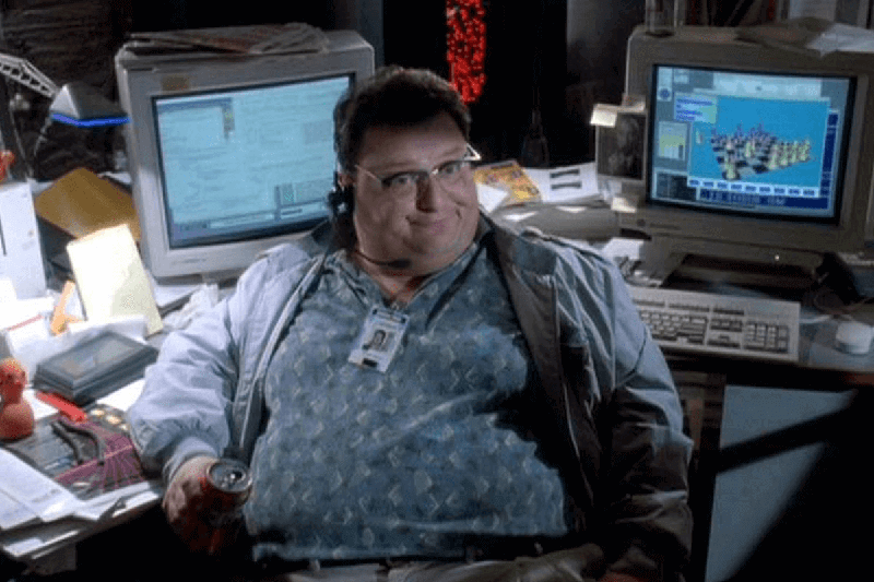 Computer programmer Dennis Nedry from Jurassic Park movie